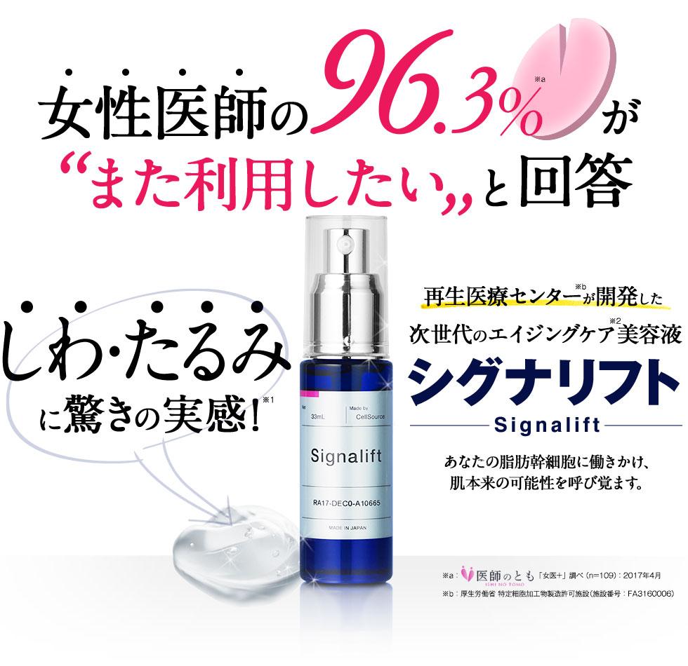 シグナリフト口コミ悪い?幹細胞美容液効果なしは嘘?危険成分は?